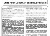 « Grand Paris » « Campus du Plateau de Saclay » UNITE POUR LE RETRAIT DES PROJETS DE LOI