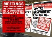 meeting parisien du 17 décembre (porte de Charenton) avec des délégués de la Conférence mondiale d'Alger