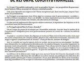 NON AU PROJET DE RÉFORME CONSTITUTIONNELLE