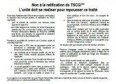 Non à la ratification du TSCG!(*) L'unité doit se réaliser pour repousser ce traité