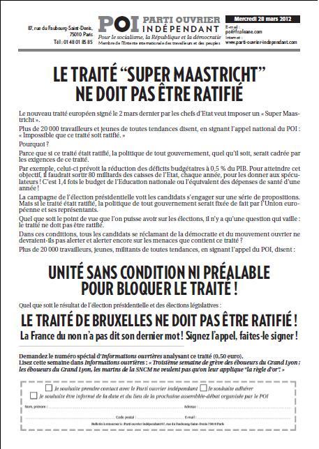 NON AU TRAITE DE BRUXELLES tract-POI-28-mars-2012
