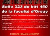 . Jeudi 3 mai – Réunion Débat à la faculté d'Orsay