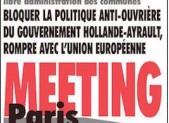 Rien n'est joué… Meeting central à Paris le 28 septembre, meetings dans toutes les régions