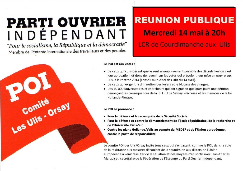 réunion publique 14 mai